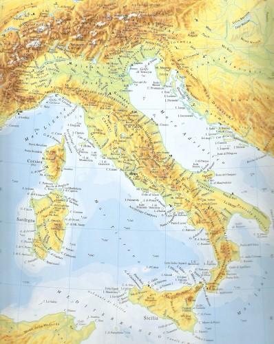 Cartina Geografica Italia Immagini.Carta Geografica Murale Italia Roma