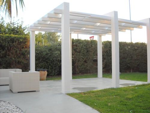 Gazebi Moderni In Legno.Gazebo Bianco Moderno Priolo Gargallo