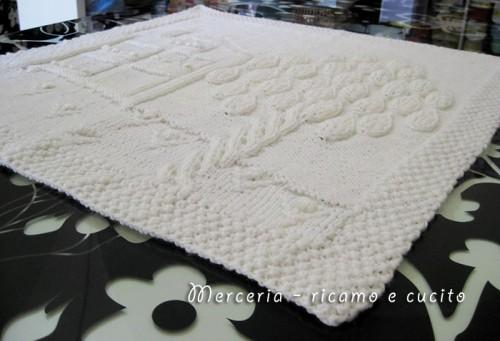 ordine l'atteggiamento migliore posto migliore Copertina in lana per neonato con casetta e albero incantati ...