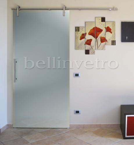 Offerta Porta In Vetro Scorrevole Con Binario In Acciaio 480 00 Palermo Corleone